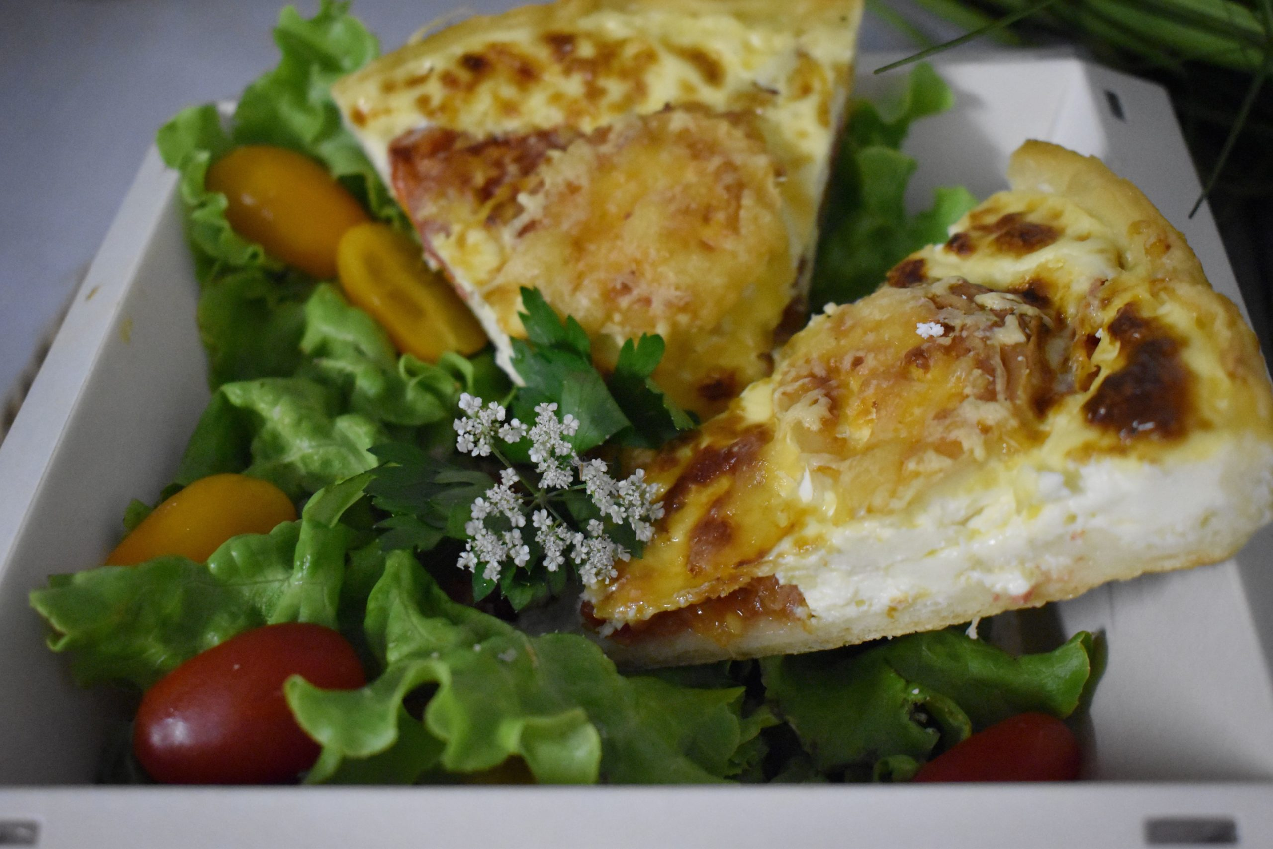 Quiche jambon cru et fromage de chèvre