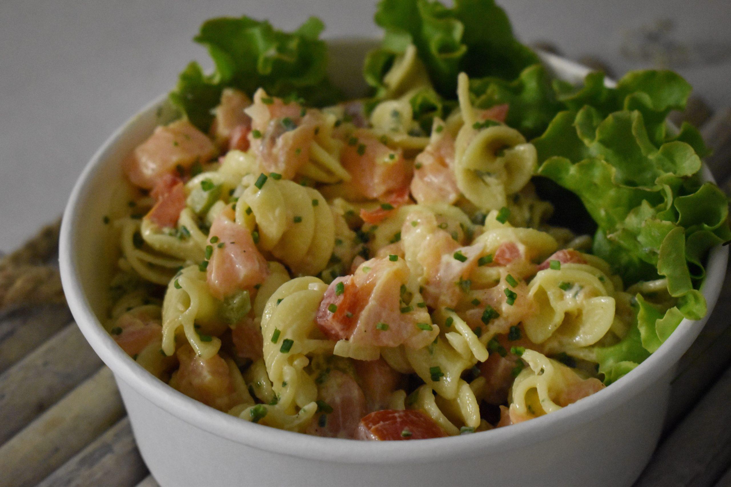Salade de pâtes aux deux saumons