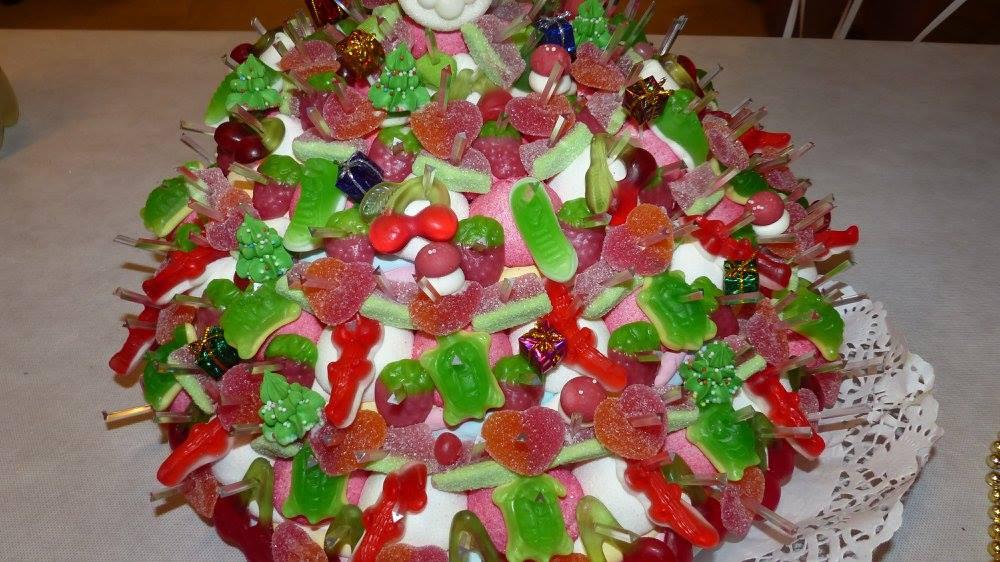 Gâteau bonbons pièce montée