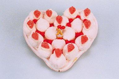 Gâteau de bonbons en forme de cœur